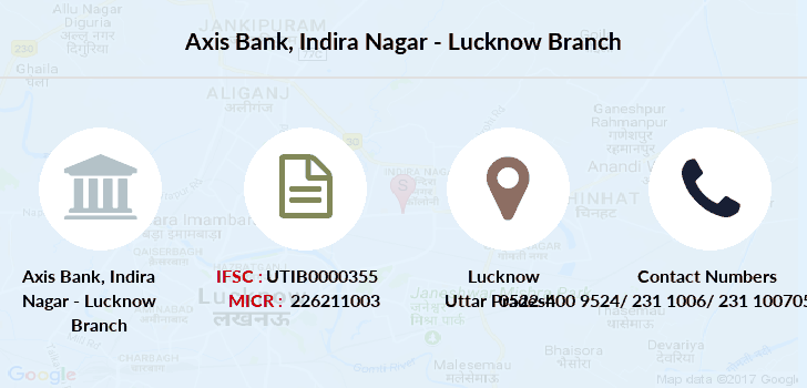 Axis-bank Indira-nagar-lucknow branch