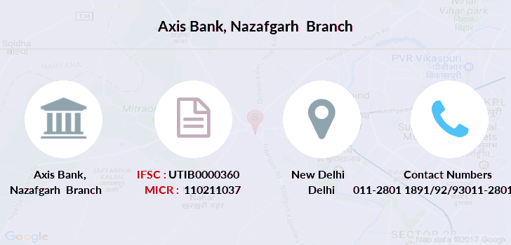 Axis-bank Nazafgarh branch