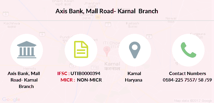 Axis-bank Mall-road-karnal branch