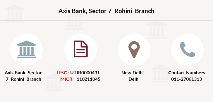 Axis-bank Sector-7-rohini branch