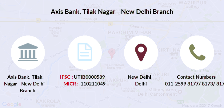 Axis-bank Tilak-nagar-new-delhi branch