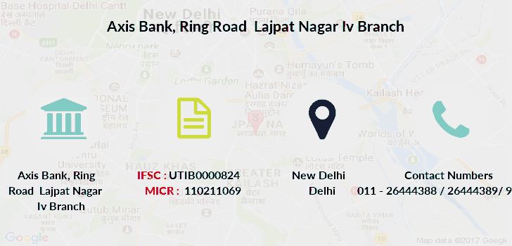 Axis-bank Ring-road-lajpat-nagar-iv branch