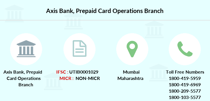 Axis-bank Prepaid-card-operations branch