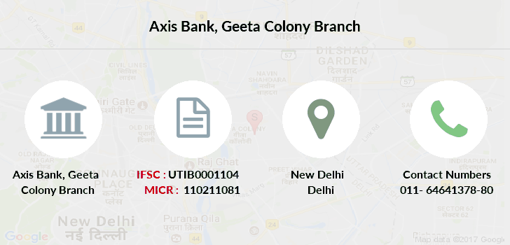Axis-bank Geeta-colony branch