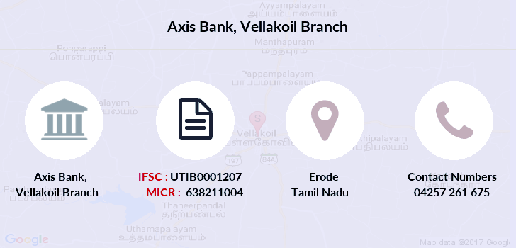 Axis-bank Vellakoil branch