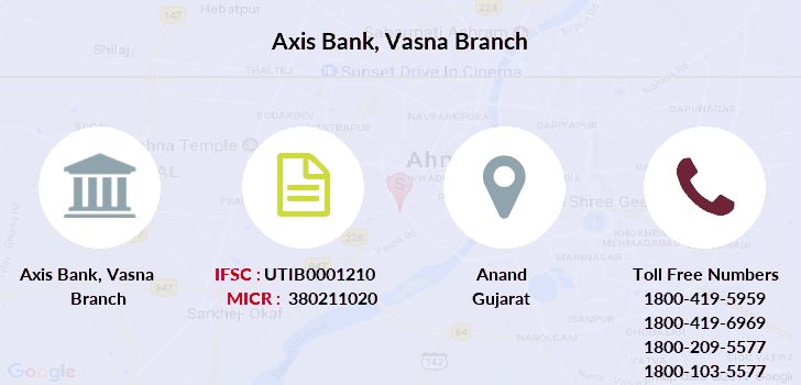 Axis-bank Vasna branch