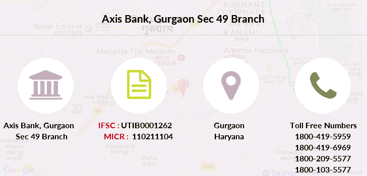 Axis-bank Gurgaon-sec-49 branch