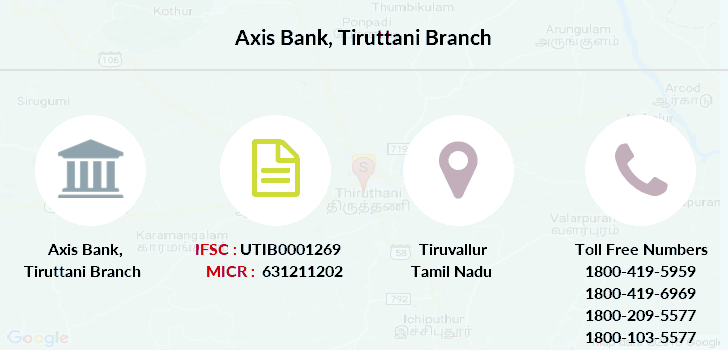 Axis-bank Tiruttani branch