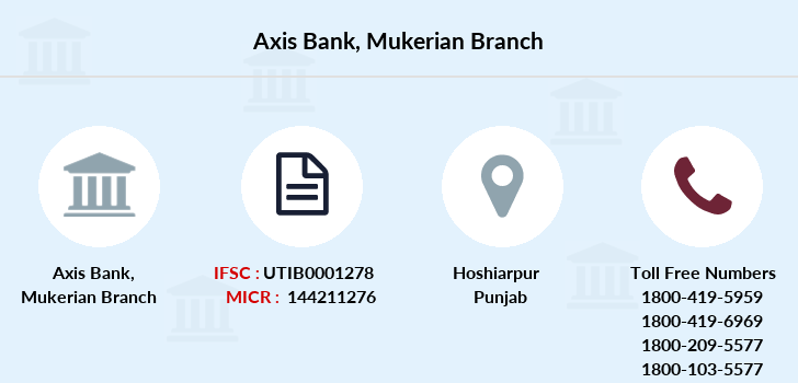 Axis-bank Mukerian branch
