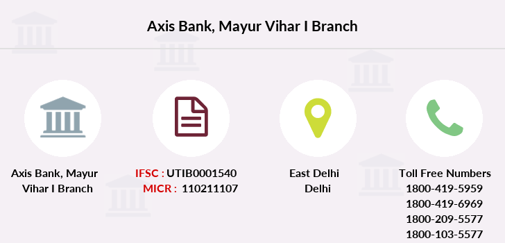 Axis-bank Mayur-vihar-i branch