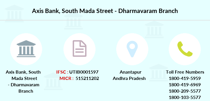 Axis-bank South-mada-street-dharmavaram branch