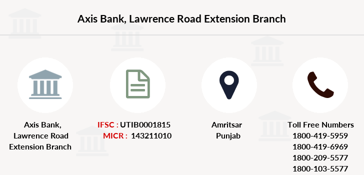 Axis-bank Lawrence-road-extension branch