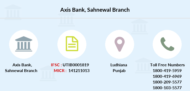 Axis-bank Sahnewal branch