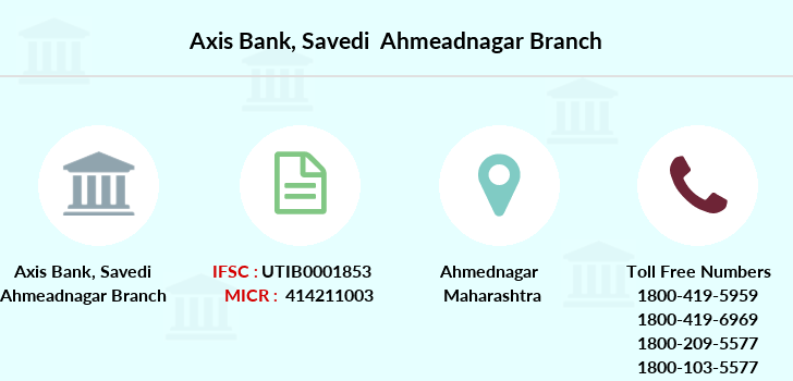 Axis-bank Savedi-ahmeadnagar branch