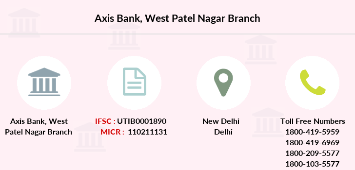 Axis-bank West-patel-nagar branch