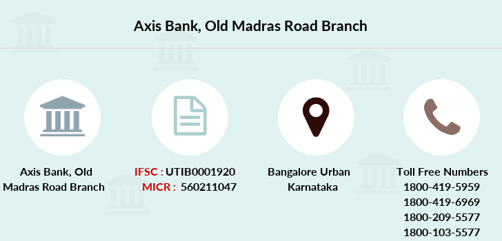 Axis-bank Old-madras-road branch
