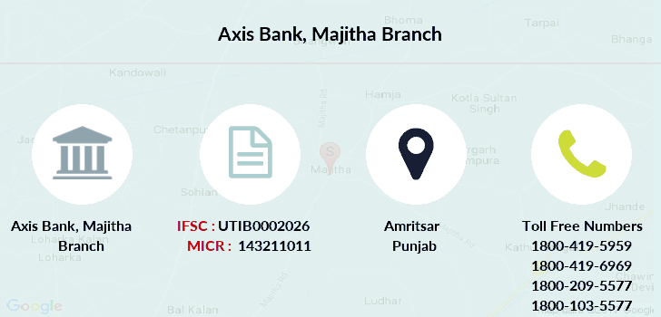 Axis-bank Majitha branch