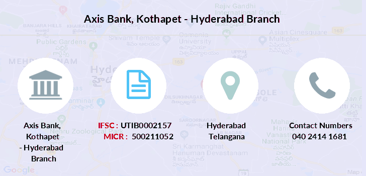 Axis-bank Kothapet-hyderabad branch