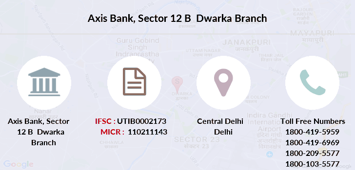 Axis-bank Sector-12-b-dwarka branch