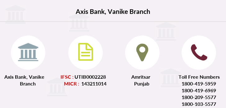Axis-bank Vanike branch