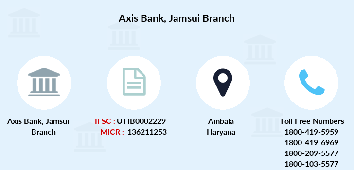 Axis-bank Jamsui branch