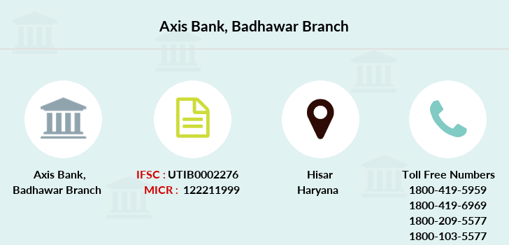 Axis-bank Badhawar branch