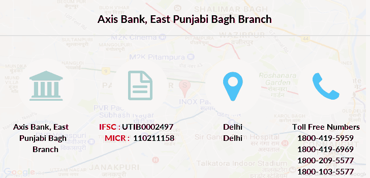 Axis-bank East-punjabi-bagh branch