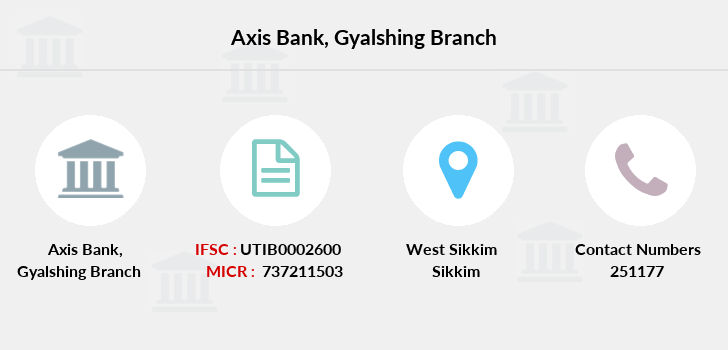 Axis-bank Gyalshing branch
