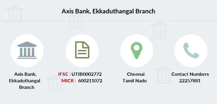 Axis-bank Ekkaduthangal branch