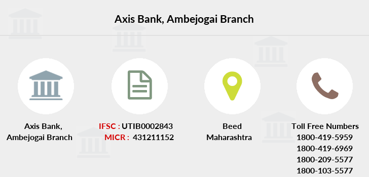 Axis-bank Ambejogai branch