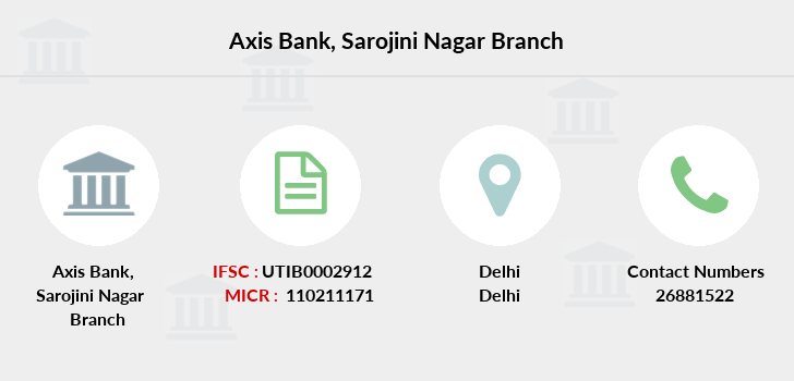 Axis-bank Sarojini-nagar branch