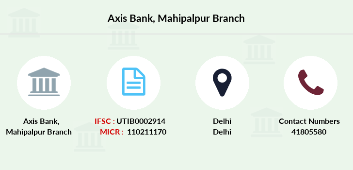 Axis-bank Mahipalpur branch