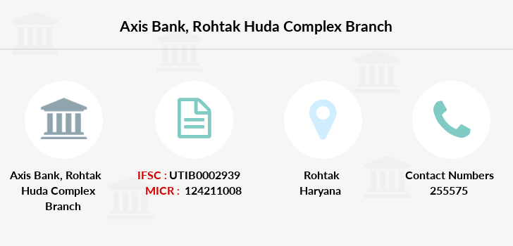 Axis-bank Rohtak-huda-complex branch