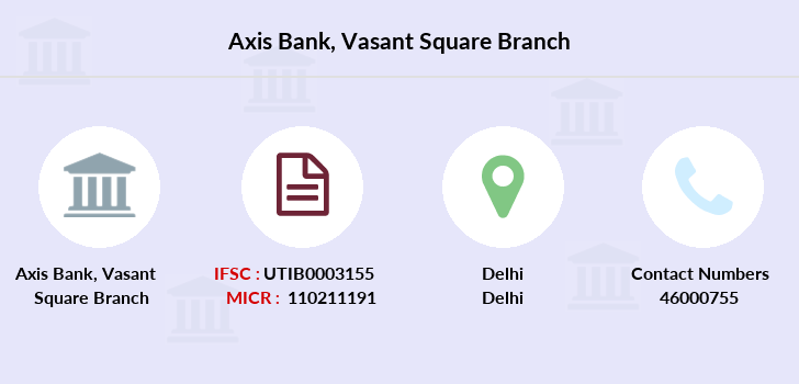 Axis-bank Vasant-square branch
