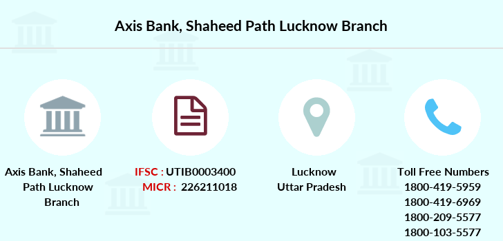 Axis-bank Shaheed-path-lucknow branch