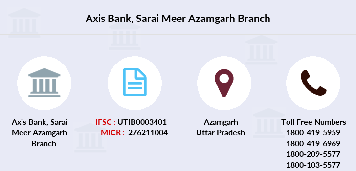 Axis-bank Sarai-meer-azamgarh branch