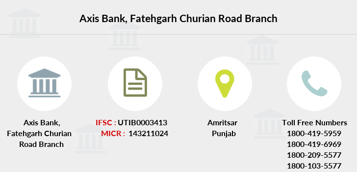 Axis-bank Fatehgarh-churian-road branch