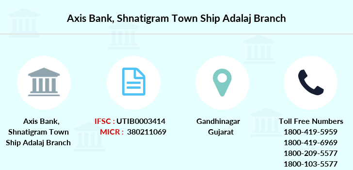 Axis-bank Shnatigram-town-ship-adalaj branch