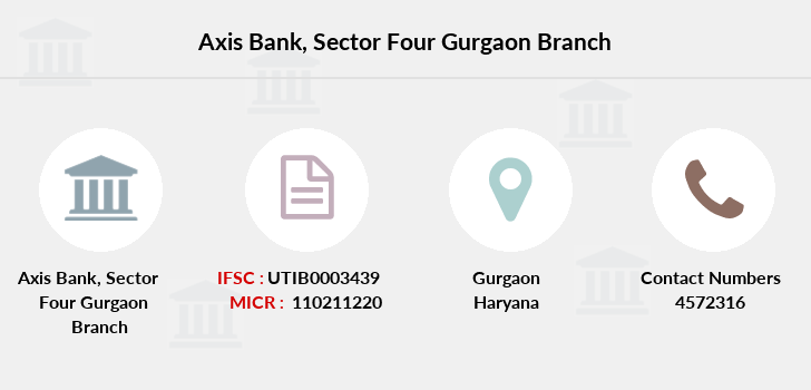 Axis-bank Sector-four-gurgaon branch