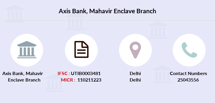 Axis-bank Mahavir-enclave branch