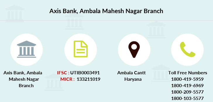 Axis-bank Ambala-mahesh-nagar branch