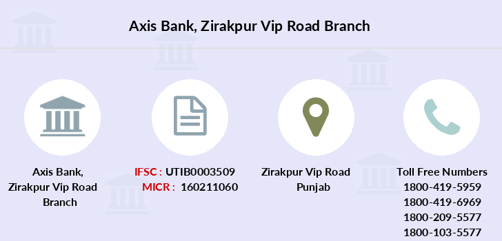 Axis-bank Zirakpur-vip-road branch
