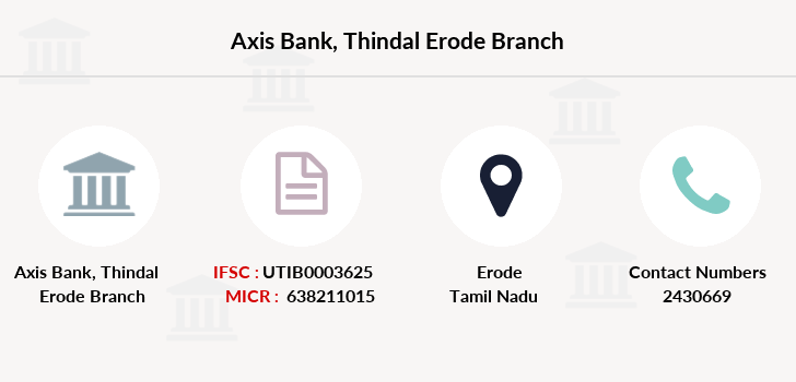 Axis-bank Thindal-erode branch