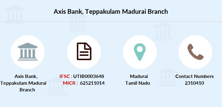 Axis-bank Teppakulam-madurai branch