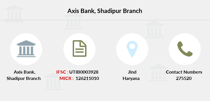 Axis-bank Shadipur branch