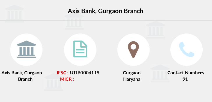 Axis-bank Gurgaon branch