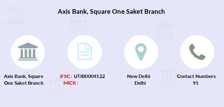 Axis-bank Square-one-saket branch