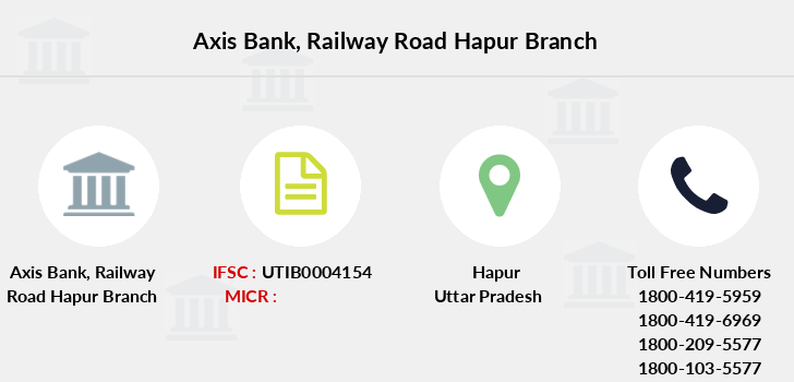 Axis-bank Railway-road-hapur branch