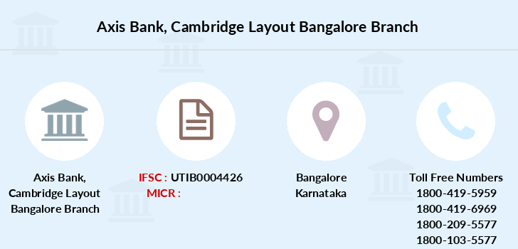 Axis-bank Cambridge-layout-bangalore branch