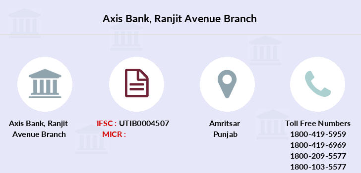 Axis-bank Ranjit-avenue branch
